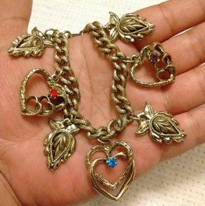 Vintage Antique Charm Bracelet